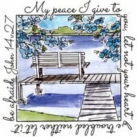 Art Impressions - Windows to the World Collection - Unmounted Rubber Stamp Set - Peace