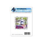 Art Impressions - Windows to the World Collection - Clear Photopolymer Stamp Set - Covered Bridge