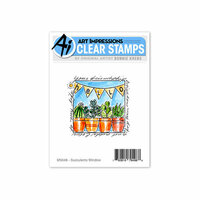 Art Impressions - Windows to the World Collection -Clear Photopolymer Stamp Set - Succulents