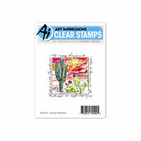 Art Impressions - Windows to the World Collection - Clear Photopolymer Stamp Set - Desert