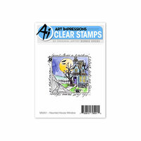 Art Impressions - Windows to the World Collection - Clear Photopolymer Stamp Set - Haunted House