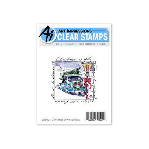 Art Impressions - Windows to the World Collection - Clear Photopolymer Stamp Set - Christmas Drive