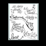 Autumn Leaves - Clear Stamps by Rhonna Farrer - Word Art, CLEARANCE