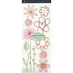 Stitched Rub Ons - Flowers by Autumn Leaves, CLEARANCE