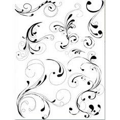 Autumn Leaves - Clear Stamps - Rhonna Farrer - Elegant Flourishes