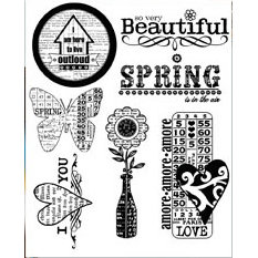 Autumn Leaves - Clear Stamps - Sande Krieger - Romance of Spring, CLEARANCE