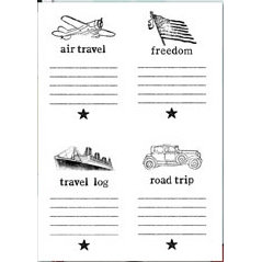 Autumn Leaves - Clear Stamps - Jenni Bowlin - American Journey - Fourth of July - Travel, CLEARANCE
