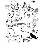Autumn Leaves - Clear Stamps - A Rhonna Christmas Collection by Rhonna Farrer - Rhonna's Christmas Swirls, CLEARANCE