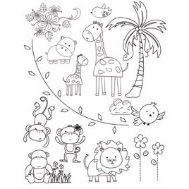 Autumn Leaves - Clear Stamps - Mindy Terasawa - Mindy's Zoo
