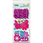 Autumn Leaves - Mod Techno Pop Collection - Plastic Alphabet, Icons and Flowers, CLEARANCE