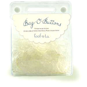 Autumn Leaves - Bag O Buttons - Clear - 6 ounces, CLEARANCE