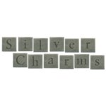Digital Alphabet (Download)  - Silver Charms - Square