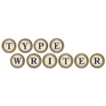 Digital Alphabet (Download)  - Typewriter Keys - Brass