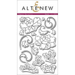 Altenew - Clear Photopolymer Stamps - Peony Scrolls