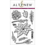 Altenew - Clear Acrylic Stamps - Poinsettia and Pine