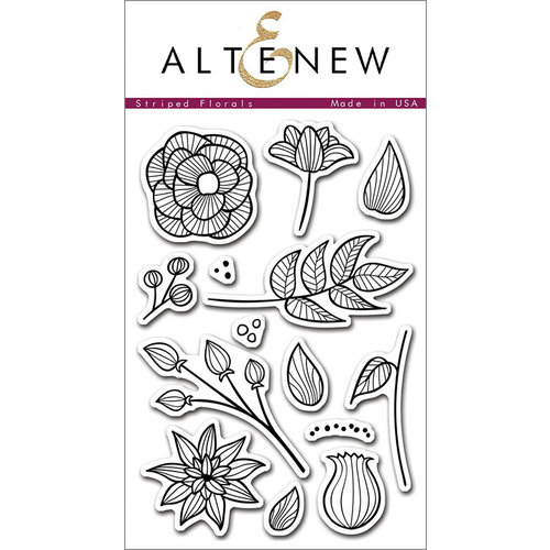 Altenew - Clear Photopolymer Stamps - Striped Florals