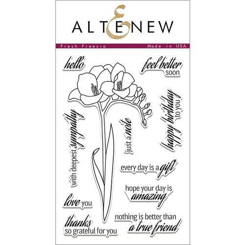 Altenew - Clear Photopolymer Stamps - Fresh Freesia