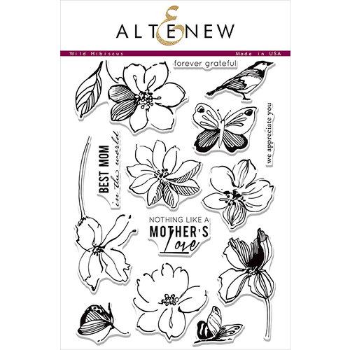 Altenew - Clear Photopolymer Stamps - Wild Hibiscus