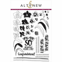 Altenew - Clear Photopolymer Stamps - Oriental Orchid