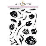 Altenew - Clear Photopolymer Stamps - Brush Art Floral