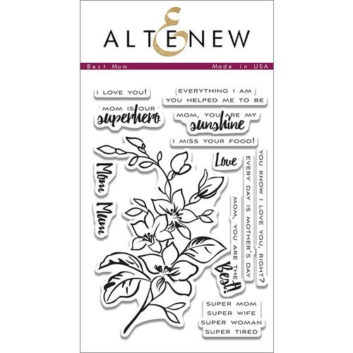 Altenew - Clear Photopolymer Stamps - Best Mom