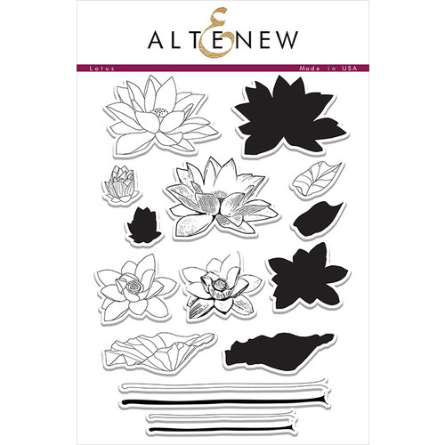 Altenew - Clear Photopolymer Stamps - Lotus