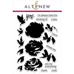 Altenew - Clear Acrylic Stamps - Painted Rose