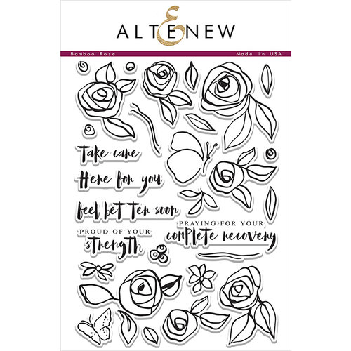 Altenew - Clear Photopolymer Stamps - Bamboo Rose