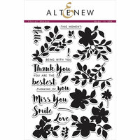 Altenew - Clear Photopolymer Stamps - Floral Shadow