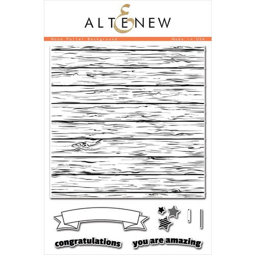 Altenew - Clear Photopolymer Stamps - Wood Pallet Background