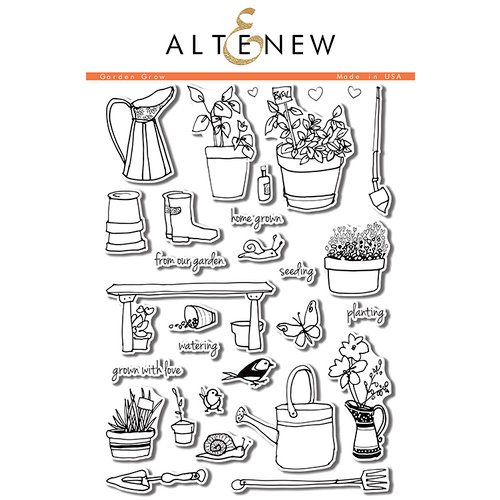Altenew - Clear Photopolymer Stamps - Garden Grow