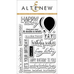 Altenew - Clear Acrylic Stamps - Birthday Greetings
