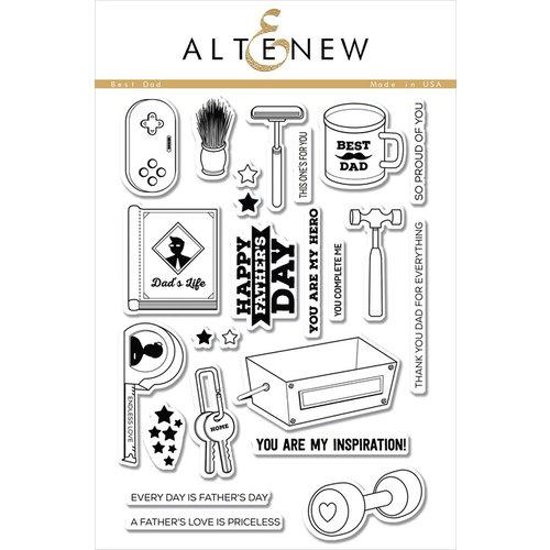 Altenew - Clear Photopolymer Stamps - Best Dad