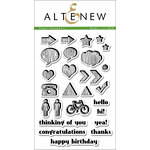 Altenew - Clear Acrylic Stamps - Faux Veneer