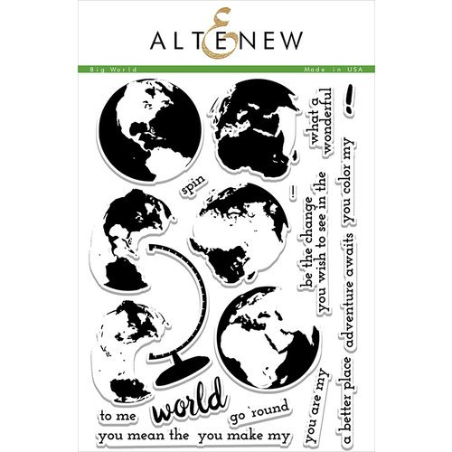 Altenew - Clear Photopolymer Stamps - Big World