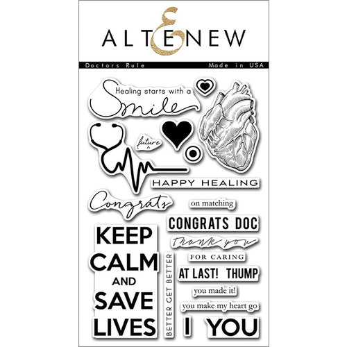 Altenew - Clear Photopolymer Stamps - Doctors Rule