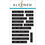 Altenew - Clear Acrylic Stamps - Label Love