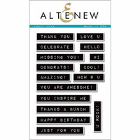 Altenew - Clear Photopolymer Stamps - Label Love