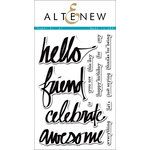 Altenew - Clear Acrylic Stamps - Super Script