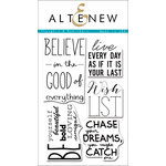Altenew - Clear Acrylic Stamps - Thoughts and Reminders