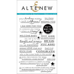 Altenew - Clear Acrylic Stamps - Sentiments and Quotes