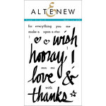 Altenew - Clear Acrylic Stamps - Super Script 2