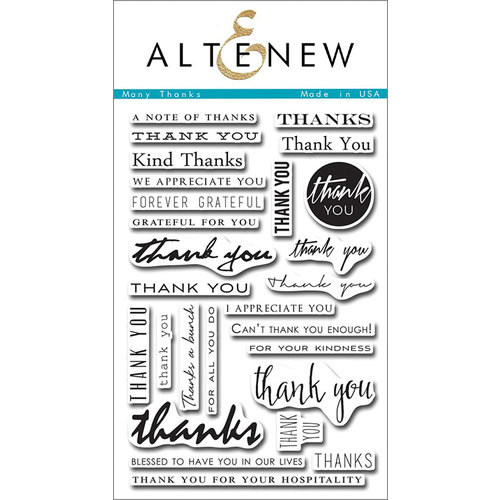 Altenew - Clear Photopolymer Stamps - Many Thanks