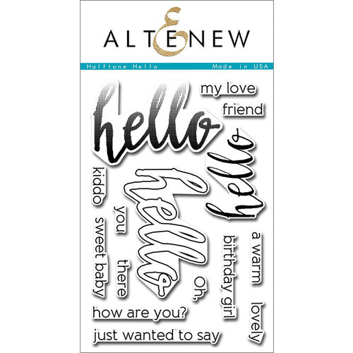 Altenew - Clear Photopolymer Stamps - Halftone Hello