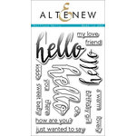 Altenew - Clear Acrylic Stamps - Halftone Hello