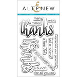 Altenew - Clear Acrylic Stamps - Halftone Thanks