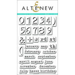 Altenew - Clear Acrylic Stamps - Invisible Numbers