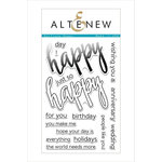 Altenew - Clear Acrylic Stamps - Halftone Happy