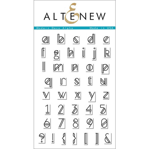 Altenew - Clear Photopolymer Stamps - Modern Deco Alpha
