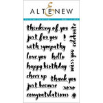 Altenew - Clear Acrylic Stamps - Painted Greetings